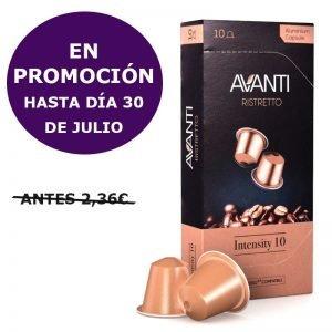 Caja de 10 cápsulas Avanti compatibles Nespresso